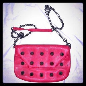 STEVE MADDEN Red Studded Crossbody Bag